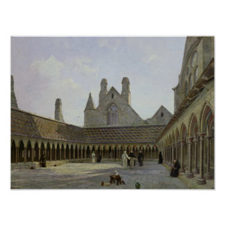 The Cloister of Mont Saint-Michel Poster