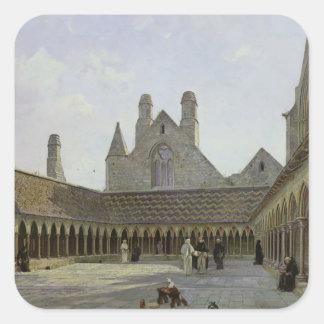 The Cloister of Mont Saint-Michel Square Sticker