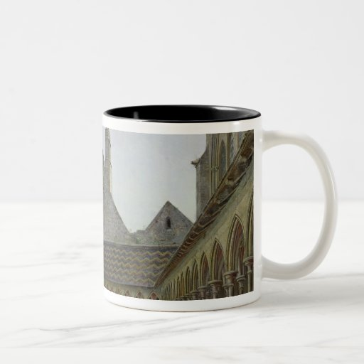 The Cloister of Mont Saint-Michel Two-Tone Coffee Mug