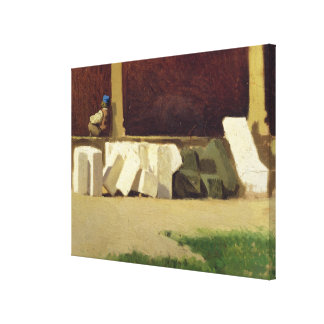 The Cloister (oil on canvas) Stretched Canvas Print