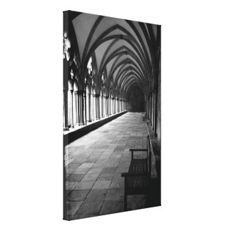 The Cloisters at Salisbury Cathedral in Wiltshire Canvas Print