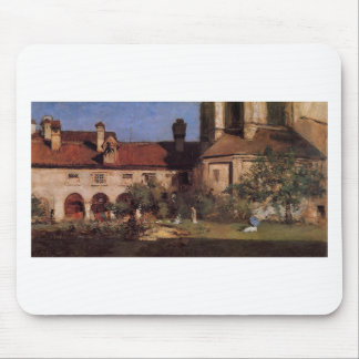 The Cloisters by William Merritt Chase Mouse Pad