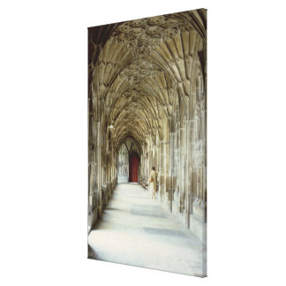 The Cloisters of Gloucester Cathedral, 12th centur Canvas Print