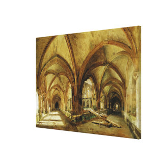 The Cloisters of St. Wandrille, c.1825-30 Canvas Print