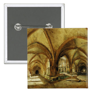 The Cloisters of St. Wandrille, c.1825-30 Pinback Button