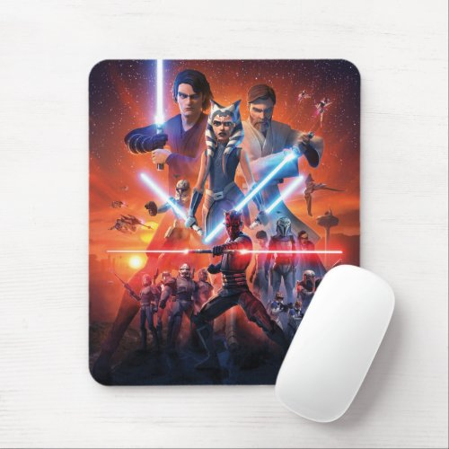 The Clone Wars Poster Art Mouse Pad