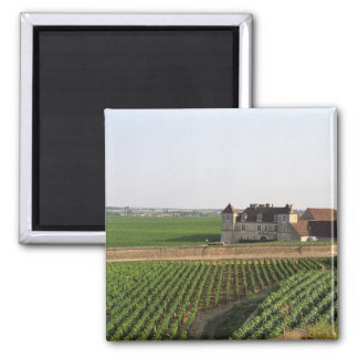 The Clos de Vougeot 16th century monastery and Refrigerator Magnet