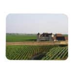 The Clos de Vougeot 16th century monastery and Vinyl Magnets