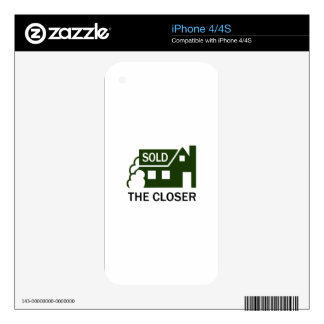 THE CLOSER iPhone 4 SKIN