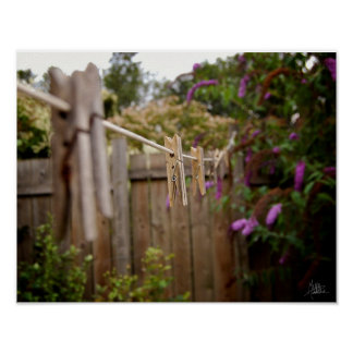 The Clothes Line [Art Print] Poster