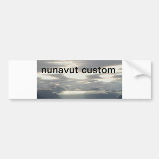 the cloud in the mountain, nunavut custom bumper sticker