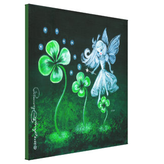 The Clover Faerie Of April Canvas Print