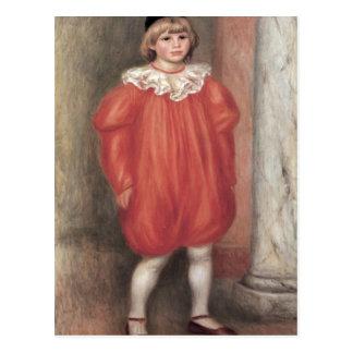 The clown by Pierre Renoir Postcard