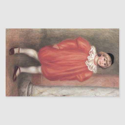 The clown by Pierre Renoir Rectangle Sticker