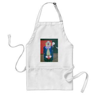 The clown fallen in love aprons