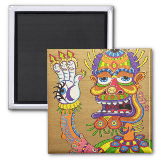 The Clown is a Wiseman in Disguise  2 Inch Square Magnet