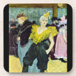 The clowness by Toulouse-Lautrec Coasters