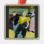 The clowness by Toulouse-Lautrec Christmas Ornaments