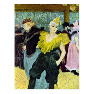 The clowness by Toulouse-Lautrec Postcard