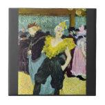 The clowness by Toulouse-Lautrec Tiles