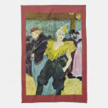 The clowness by Toulouse-Lautrec Towel