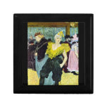 The clowness by Toulouse-Lautrec Trinket Boxes