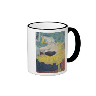 The Clowness Cha-U-Kao in a Tutu, 1895 Ringer Coffee Mug