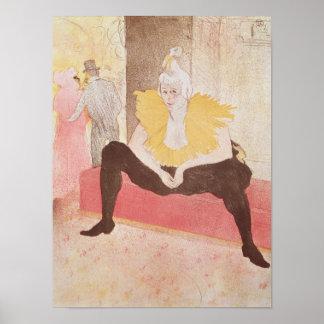 The Clowness Cha-U-Kao Seated, 1896 Poster