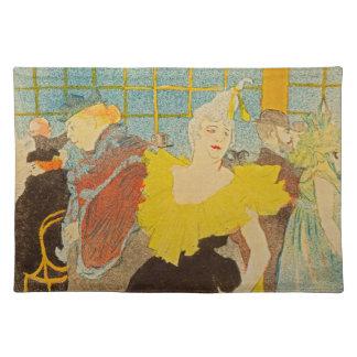 The Clownesse by Henri de Toulouse-Lautrec Cloth Placemat
