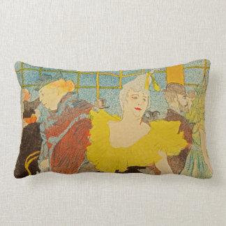 The Clownesse by Henri de Toulouse-Lautrec Throw Pillows