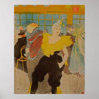 The Clownesse by Henri de Toulouse-Lautrec Poster
