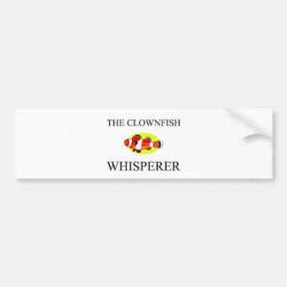 The Clownfish Whisperer Car Bumper Sticker