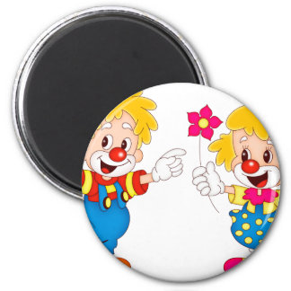 the clowns 2 inch round magnet