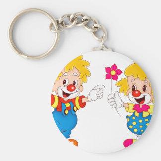 the clowns basic round button keychain