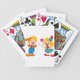 the clowns bicycle playing cards