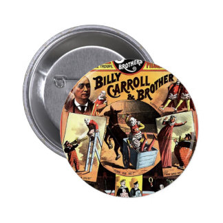 The Clowns' Frolics Vintage Theater Button