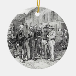 The Club Room of Zermatt in 1864, from 'The Ascent Ceramic Ornament