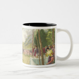 The Club's the Thing, published by Boupil and Co. Two-Tone Coffee Mug
