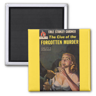 The Clue of the Forgotten Murder 2 Inch Square Magnet