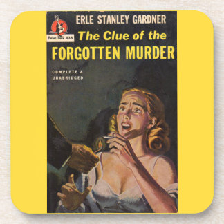 The Clue of the Forgotten Murder Drink Coaster