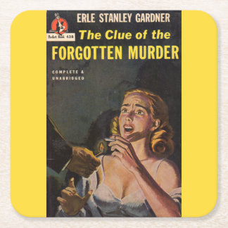 The Clue of the Forgotten Murder Square Paper Coaster