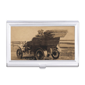 The Clutch is Working Tight Vintage Lovers and Car Business Card Case
