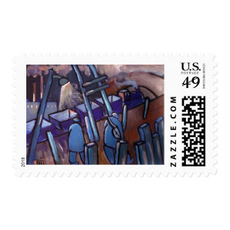 THE COAL TRAIN POSTAGE STAMP