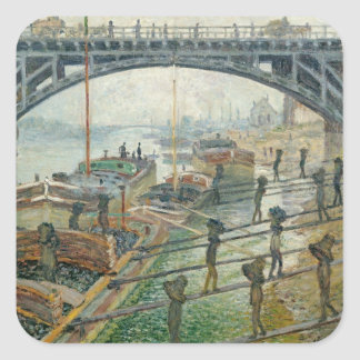 The Coal Workers, 1875 Square Sticker