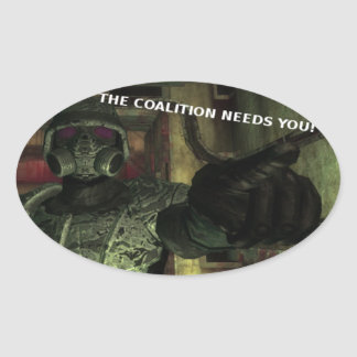 The Coalition Needs You Stickers Sheet of 4