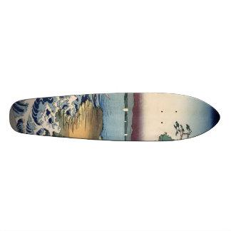 The coast at Hota in Awa province Skateboard Deck