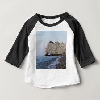 The coast at the Aval cliffs of Etretat Baby T-Shirt