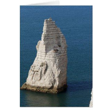 Beach Themed The coast at the Aval cliffs of Etretat Card