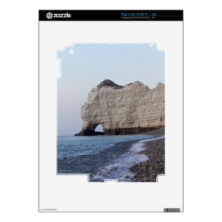The coast at the Aval cliffs of Etretat Decals For iPad 2