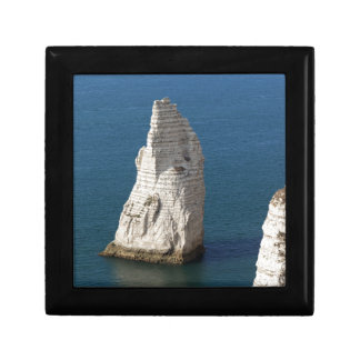 The coast at the Aval cliffs of Etretat Gift Box